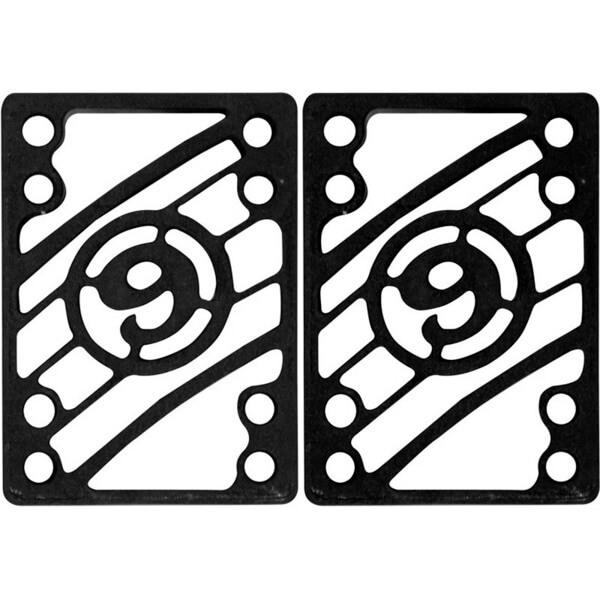 "Sector 9 Flat Black Riser Pads - 1/4"""