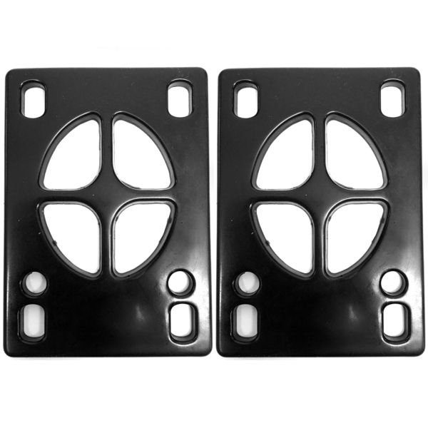 "Crosshair Hard 90a Standard Black Riser Pads - Set of Two (2) - 1/8"""