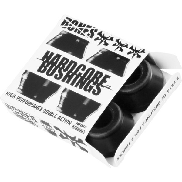 Bones Wheels Hardcore Black Skateboard Bushings - Includes 4 Pieces - Hard