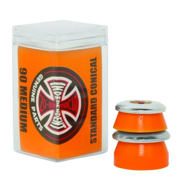 Independent Standard Conical Cushions Orange Skateboard Bushings - 2 Pair with Washers - 90a