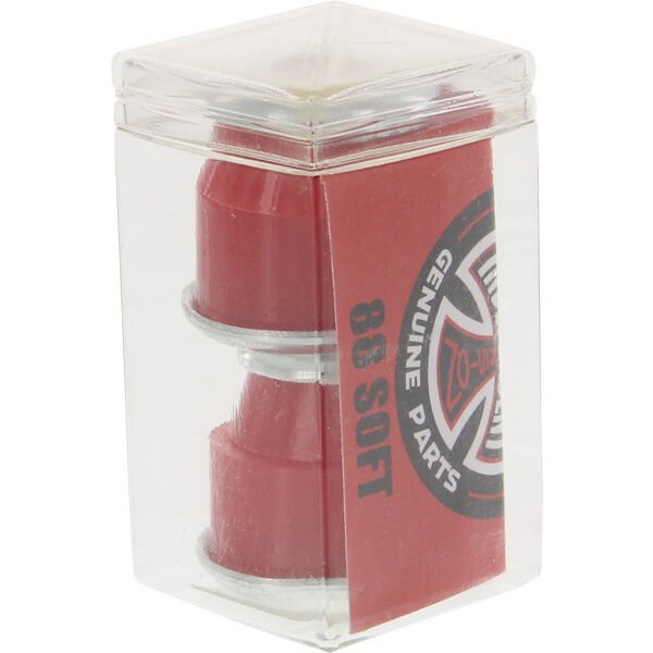 Independent Standard Cylinder Cushions Red Skateboard Bushings - 2 Pair with Washers - 88a