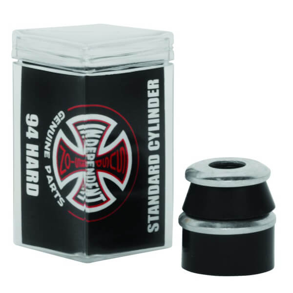 Independent Standard Cylinder Cushions Black Skateboard Bushings - 2 Pair with Washers - 94a