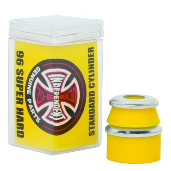 Independent Standard Cylinder Cushions Yellow Skateboard Bushings - 2 Pair with Washers - 96a