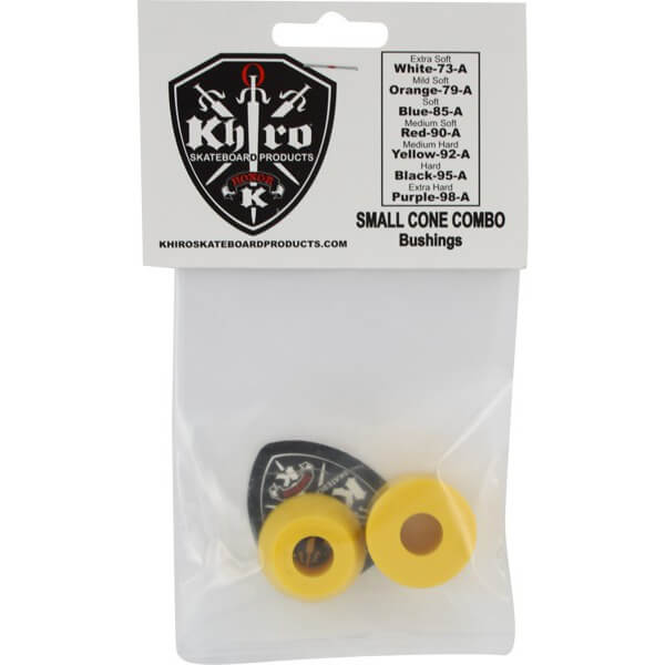Khiro Small Cone Medium Hard Yellow Skateboard Bushings - 92a