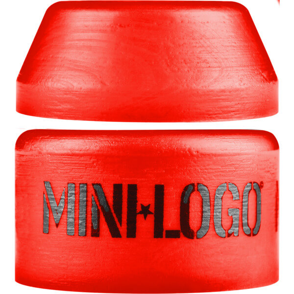 Mini Logo Hard Cone / Barrel Red Skateboard Bushings - 100a