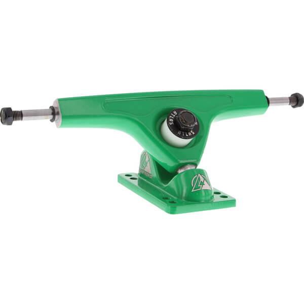 "Atlas Truck Co. 180mm 48 Degree RKP Vibrant Green Skateboard Reverse Kingpin Trucks - 7.0"" Hanger 9.75"" Axle (Set of 2)"