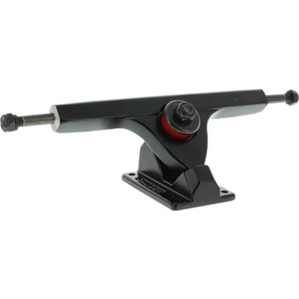 "Caliber Trucks 10"" II Fifty Caliber Blackout Skateboard Reverse Kingpin Trucks 50 Degree Baseplate - 7.25"" Hanger 10.0"" Axle (Set of 2)"