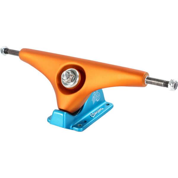 "Gullwing Trucks 10"" Charger Orange / Blue Skateboard Reverse Kingpin Trucks - 7.25"" Hanger 10.0"" Axle (Set of 2)"