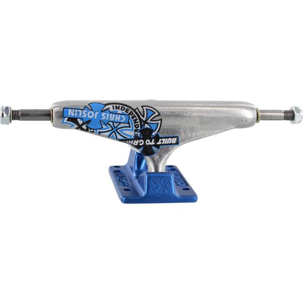 "Independent Chris Joslin Stage 11 - 144mm Forged Hollow Standard Silver / Blue Skateboard Trucks - 5.67"" Hanger 8.25"" Axle (Set of 2)"