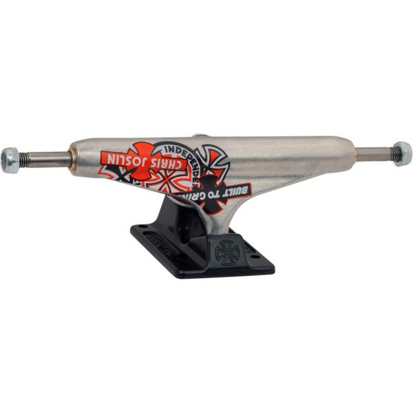 "Independent Chris Joslin Stage 11 - 144mm Forged Hollow Standard Silver Black Skateboard Trucks - 5.67"" Hanger 8.25"" Axle (Set of 2)"