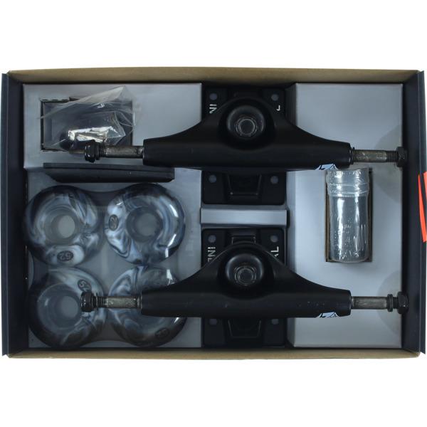 "Industrial Black Trucks with 52mm Black Swirl Wheels, Bearings & Hardware Kit - 5.0"" Hanger 7.75"" Axle (Set of 2)"