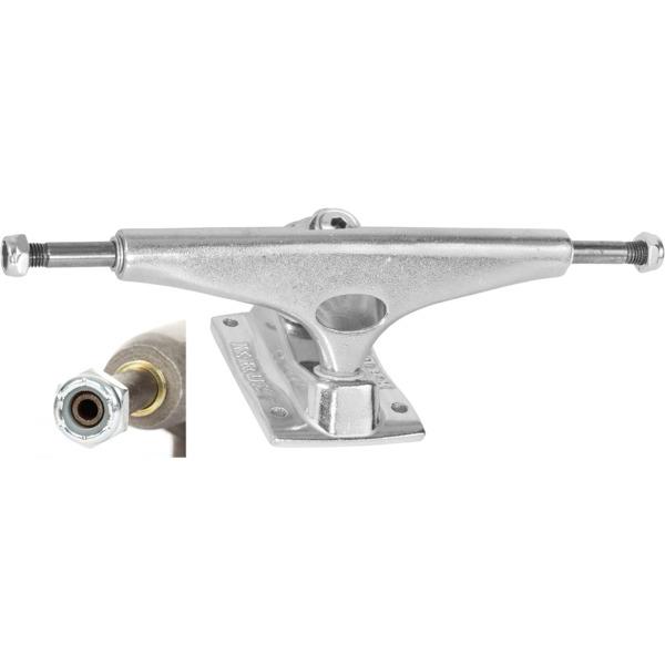 """Krux Trucks DLK Hollow Low Polished Silver Skateboard Trucks - 5.35"""" Hanger 8.0"""" Axle (Set of 2)"""