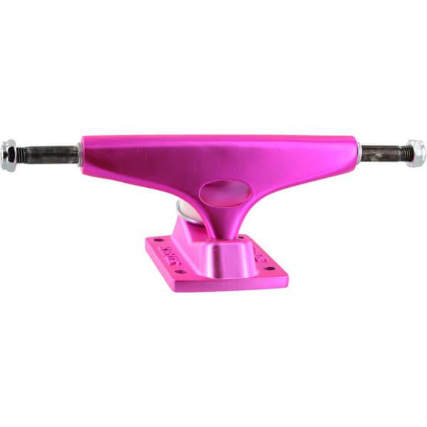 "Krux Trucks Standard Krome Matte Neon Pink Skateboard Trucks - 5.0"" Hanger 7.6"" Axle (Set of 2)"