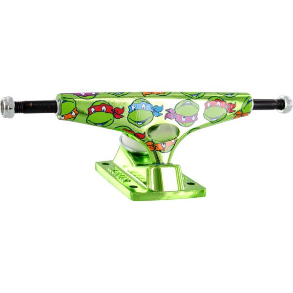 "Krux Trucks Standard TMNT Krome Green / Green Skateboard Trucks - 5.0"" Hanger 7.6"" Axle (Set of 2)"