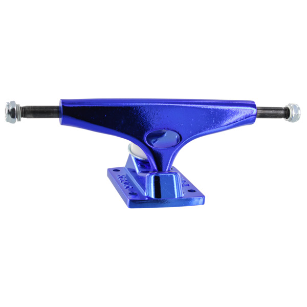 """Krux Trucks Standard Krome Dark Blue Skateboard Trucks - 5.35"""" Hanger 8.0"""" Axle (Set of 2)"""