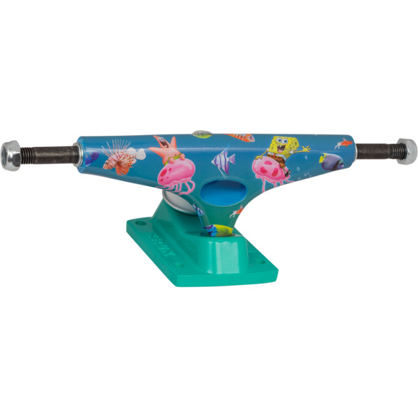 "Krux Trucks Standard SpongeBob SquarePants Bikini Bottom Blue / Green Skateboard Trucks - 5.625"" Hanger 8.25"" Axle (Set of 2)"