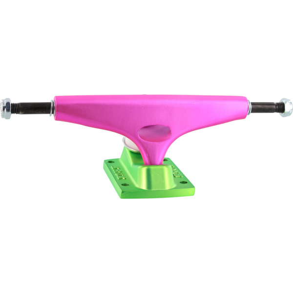 "Krux Trucks Standard Watermelon Pink / Green Skateboard Trucks - 5.625"" Hanger 8.25"" Axle (Set of 2)"
