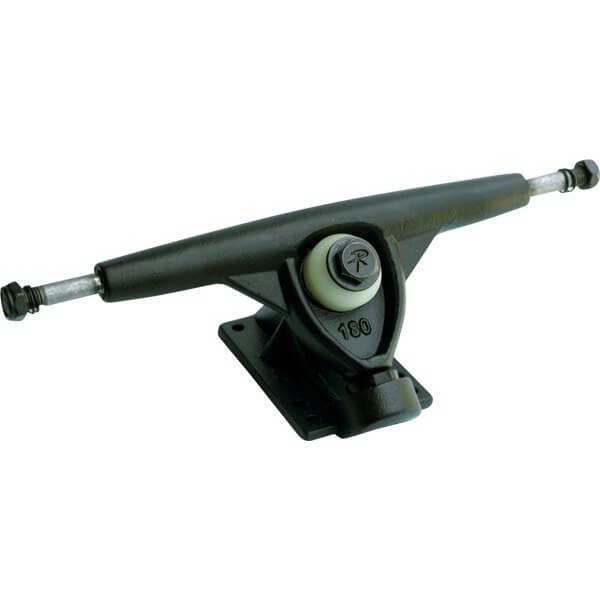 "Randal Trucks R II 180mm 50 Degree Black Skateboard Reverse Kingpin Trucks - 7.0"" Hanger 9.75"" Axle (Set of 2)"
