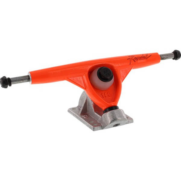 "Randal Trucks R II 180mm 50 Degree Neon Orange / Raw Skateboard Reverse Kingpin Trucks - 7.0"" Hanger 9.75"" Axle (Set of 2)"