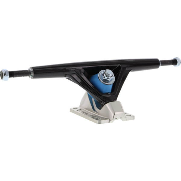 "Seismic Skate Systems 180mm Aeon 45 Degrees Hollow Black / Polished Skateboard Reverse Kingpin Trucks - 7.0"" Hanger 9.75"" Axle (Set of 2)"