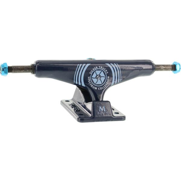 "Silver Trucks M-Class Spectrum Blue Skateboard Trucks - 5.5"" Hanger 8.25"" Axle (Set of 2)"