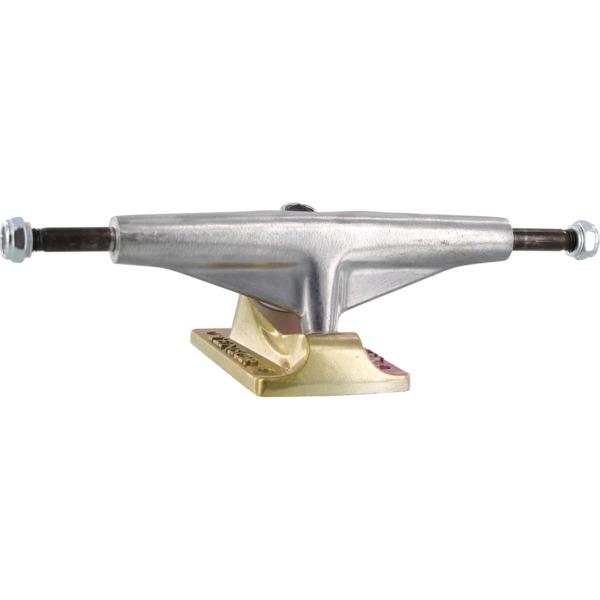 "Tensor Trucks Aluminum Low Polished / Yellow / Pink Skateboard Trucks - 5.5"" Hanger 8.25"" Axle (Set of 2)"