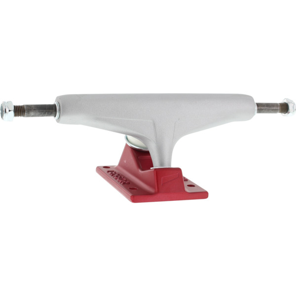 "Tensor Trucks Mag Light Silver / Red Skateboard Trucks - 5.5"" Hanger 8.25"" Axle (Set of 2)"