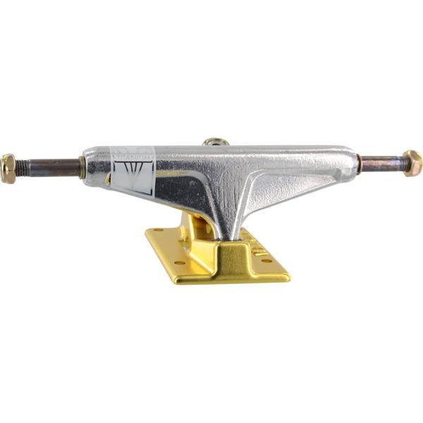 "Venture Trucks V-Titanium Low Polished / Gold Skateboard Trucks - 5.0"" Hanger 7.75"" Axle (Set of 2)"