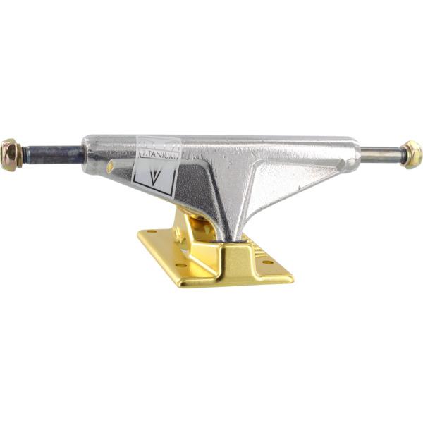 "Venture Trucks V-Titanium High Polished / Gold Skateboard Trucks - 5.0"" Hanger 7.75"" Axle (Set of 2)"