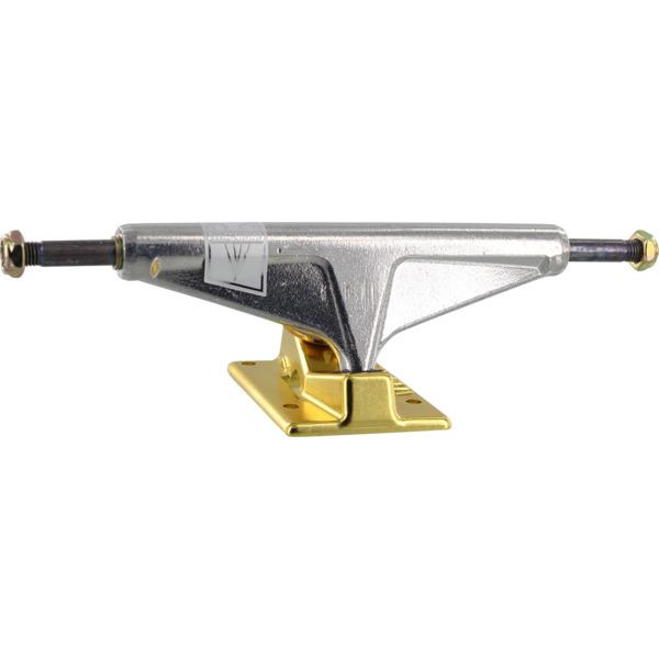 "Venture Trucks V-Titanium High Polished / Gold Skateboard Trucks - 5.8"" Hanger 8.5"" Axle (Set of 2)"