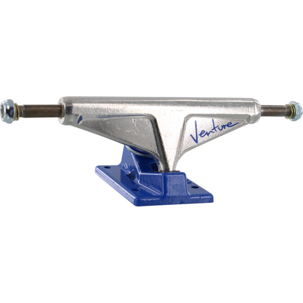 "Venture Trucks '92 Team High Polished / Blue Skateboard Trucks - 5.25"" Hanger 8.0"" Axle (Set of 2)"