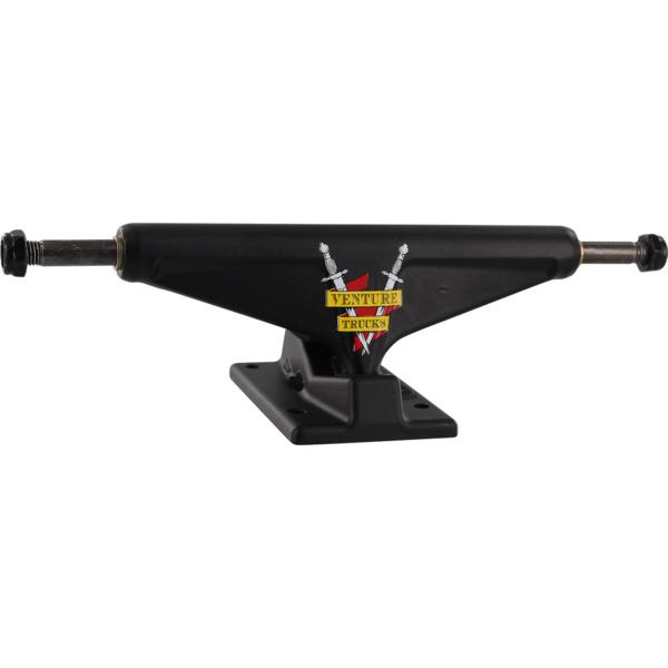 "Venture Trucks Crest Team Edition High Black Skateboard Trucks - 5.8"" Hanger 8.5"" Axle (Set of 2)"