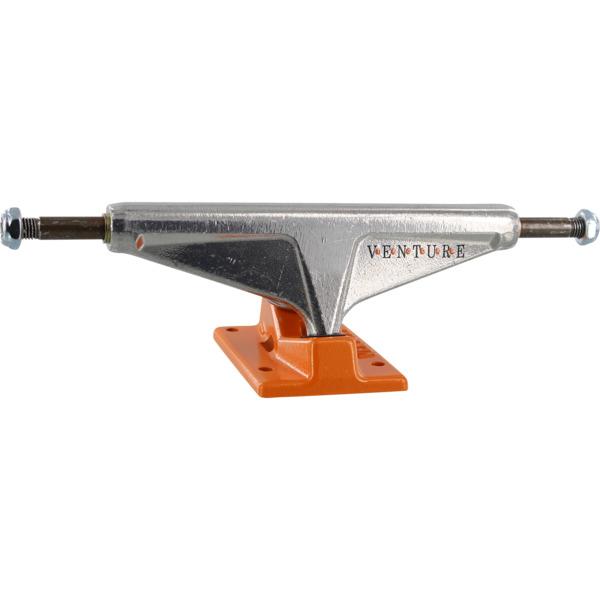 """Venture Trucks OG Dot High Polished / Orange Skateboard Trucks - 5.8"""" Hanger 8.5"""" Axle (Set of 2)"""