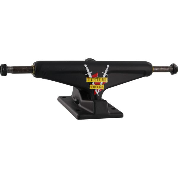 "Venture Trucks Crest Team Edition Low Black Skateboard Trucks - 5.25"" Hanger 8.0"" Axle (Set of 2)"