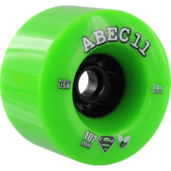 ABEC 11 SuperFlys Lime / Black Skateboard Wheels - 107mm 74a (Set of 4)