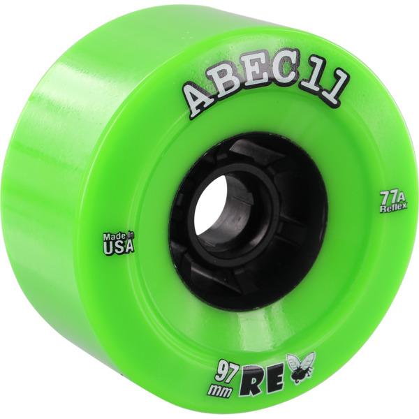 ABEC 11 Flywheels ReFly Lime / Black Skateboard Wheels - 97mm 77a (Set of 4)