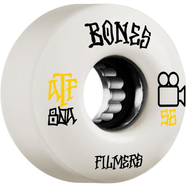 Bones Wheels ATF Filmers White Skateboard Wheels - 56mm 80a (Set of 4)