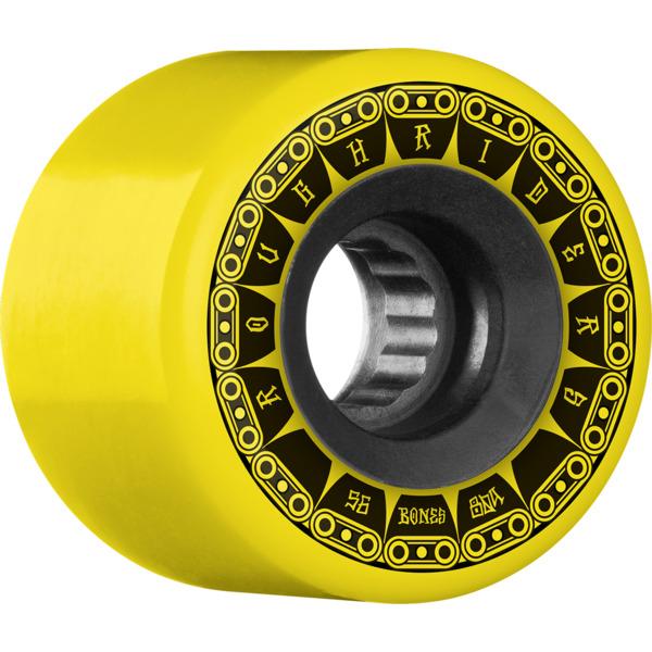 Bones Wheels ATF Rough Rider Tank Yellow Skateboard Wheels - 56mm 80a (Set of 4)