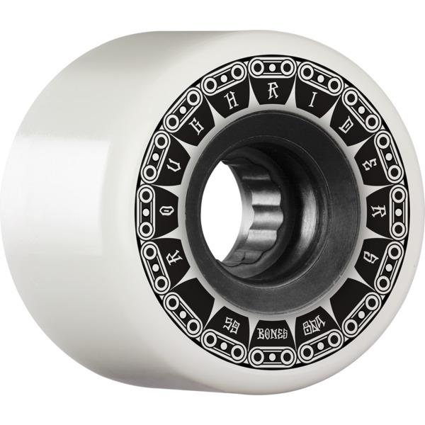 Bones Wheels ATF Rough Rider Tank White Skateboard Wheels - 59mm 80a (Set of 4)