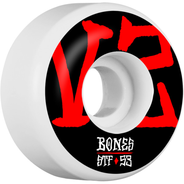 Bones Wheels STF V2 Annuals White Skateboard Wheels - 53mm 103a (Set of 4)