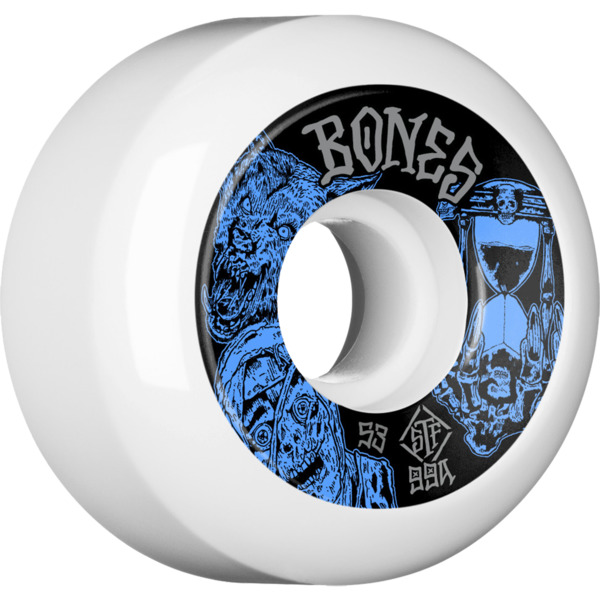 Bones Wheels STF V5 Easy Streets Time Beasts White Skateboard Wheels - 53mm 99a (Set of 4)