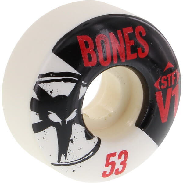 Bones Wheels STF Skinny V1 Series White Skateboard Wheels - 53mm 83b (Set of 4)