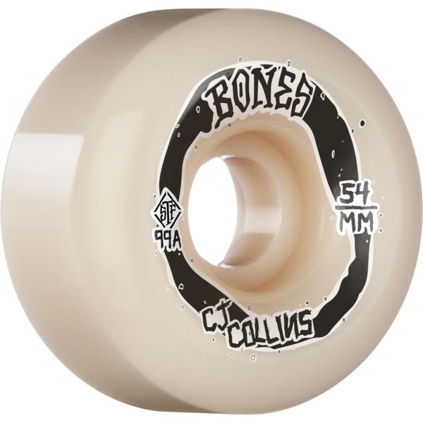 Bones Wheels CJ Collins STF V6 Swirkle White Skateboard Wheels - 54mm 99a (Set of 4)