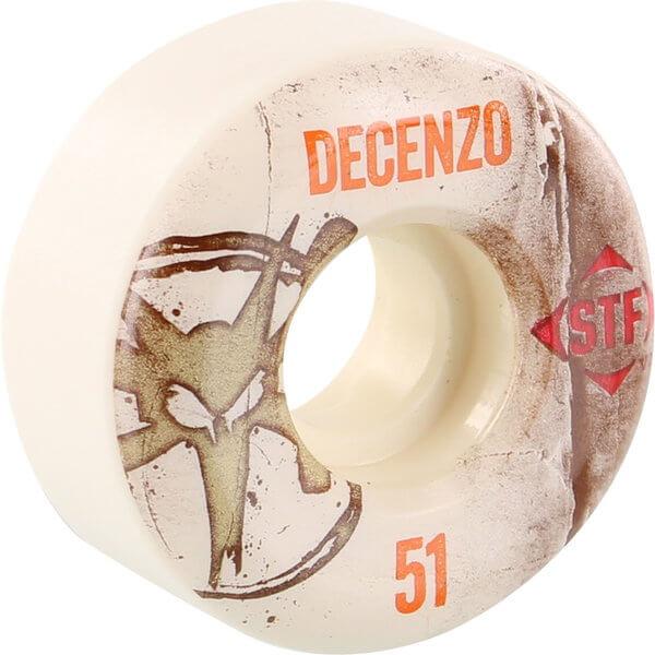 Bones Wheels Ryan Decenzo Pro STF Vintage White Skateboard Wheels - 51mm 83b (Set of 4)