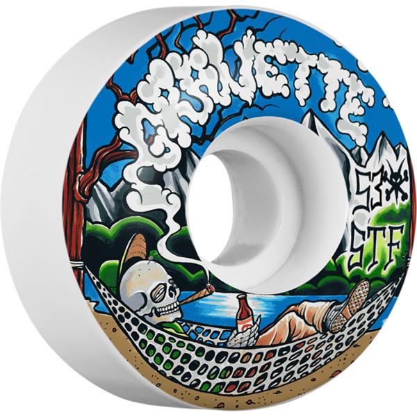 Bones Wheels David Gravette Pro STF Outdoorsman White Skateboard Wheels - 53mm 103a (Set of 4)