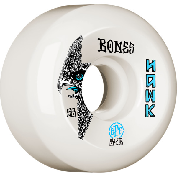Bones Wheels Tony Hawk SPF P5 Bird White Skateboard Wheels - 58mm 84b (Set of 4)