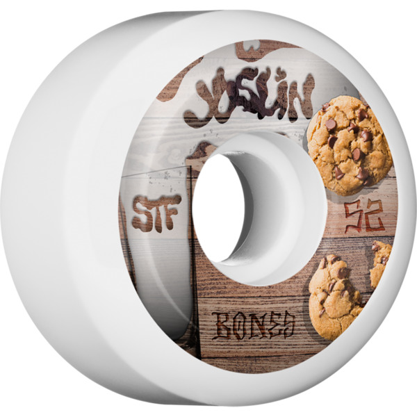 Bones Wheels Joslin London Pro STF Cookies White Skateboard Wheels - 52mm 103a (Set of 4)
