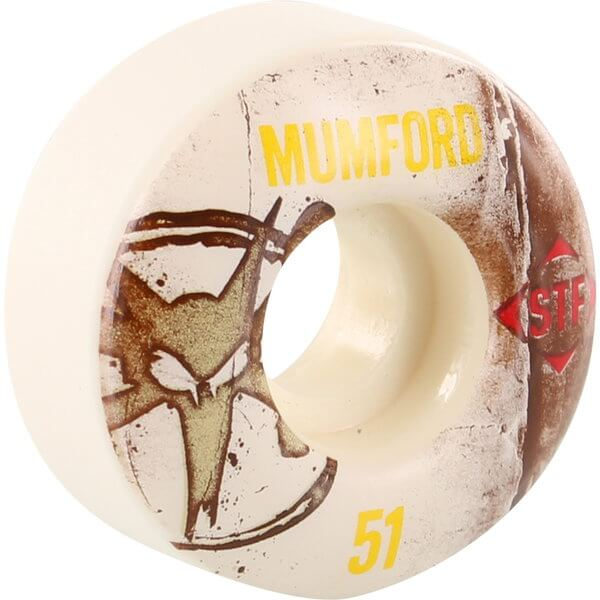 Bones Wheels Matt Mumford Pro STF Vintage White Skateboard Wheels - 51mm 83b (Set of 4)