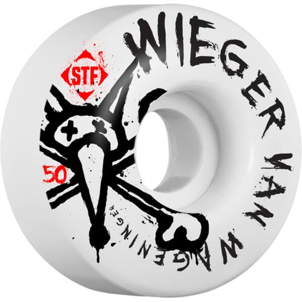 Bones Wheels Wieger van Wageningen Pro STF Faded White Skateboard Wheels - 50mm 83b (Set of 4)