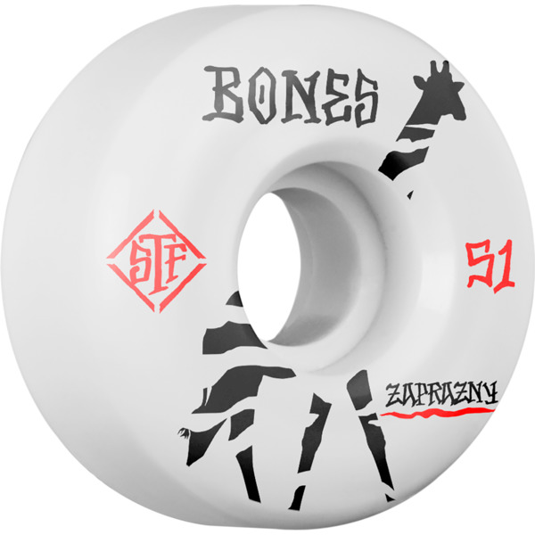 Bones Wheels Marek Zaprazny Pro STF V2 Giraffe White Skateboard Wheels - 51mm 103a (Set of 4)